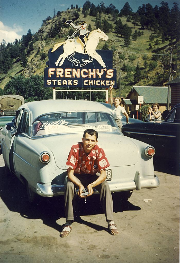 Dad (And Mom, Pointing) At Frenchy's, 1952