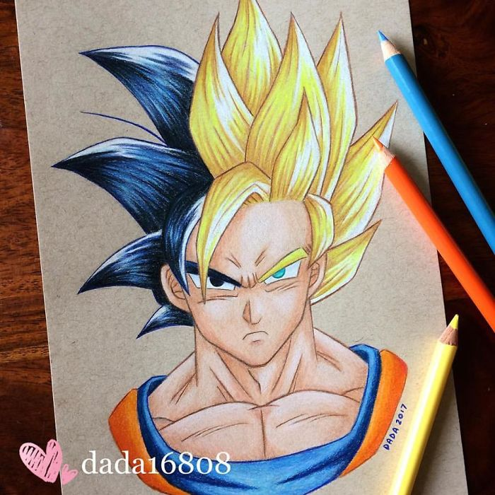 I Combine Two Characters Into One In My Color Pencil Illustrations