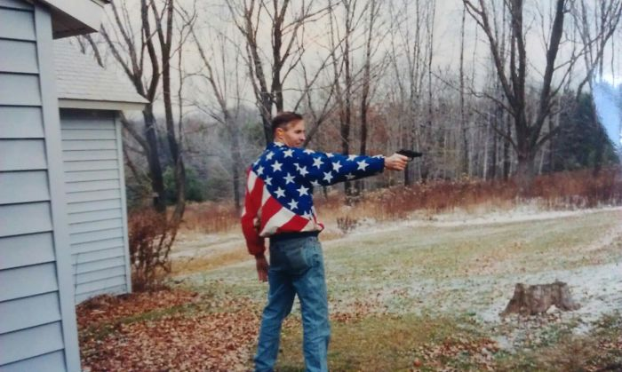 My Dad Circa 1993 Teaching Us To Shoot Guns And Fight Terrorism In The Pennsylvania Woods