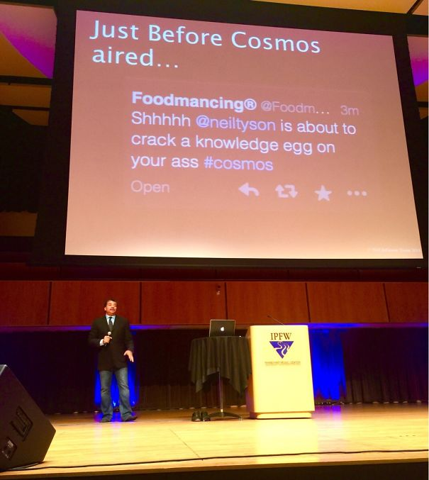 Neil Degrasse Tyson Spoke At My School This Evening. This Was One Of His Opening Slides