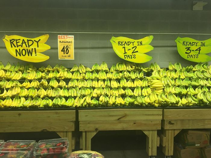 This Store Sorts It's Bananas By How Ripe They Are