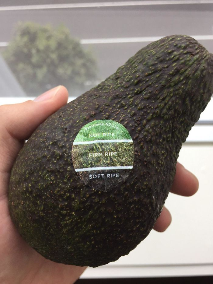 Avocados In Supermarket Have A Color Chart On The Sticker, So You Know When It's Ripe.