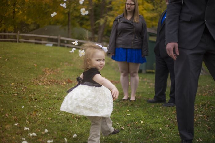 I Took A Picture Of This Unhappy Little Girl At A Wedding