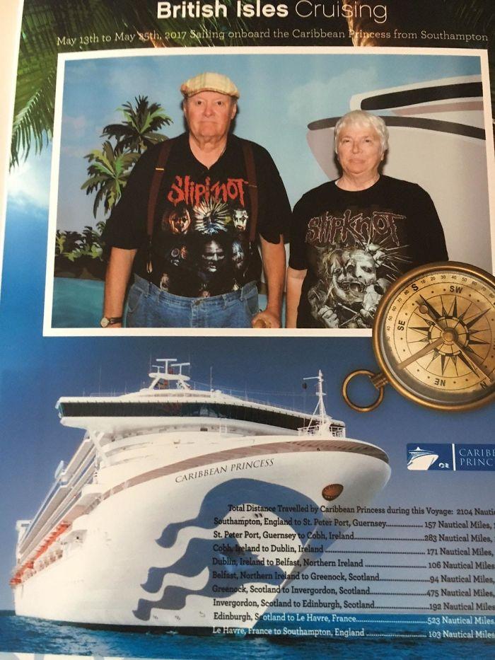 Mis suegros septuagenarios embarcando en un crucero