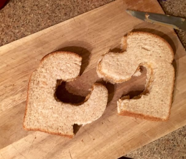 My Wife Wanted Her Sandwich Cut In Half. She Was Non-Specific As To How
