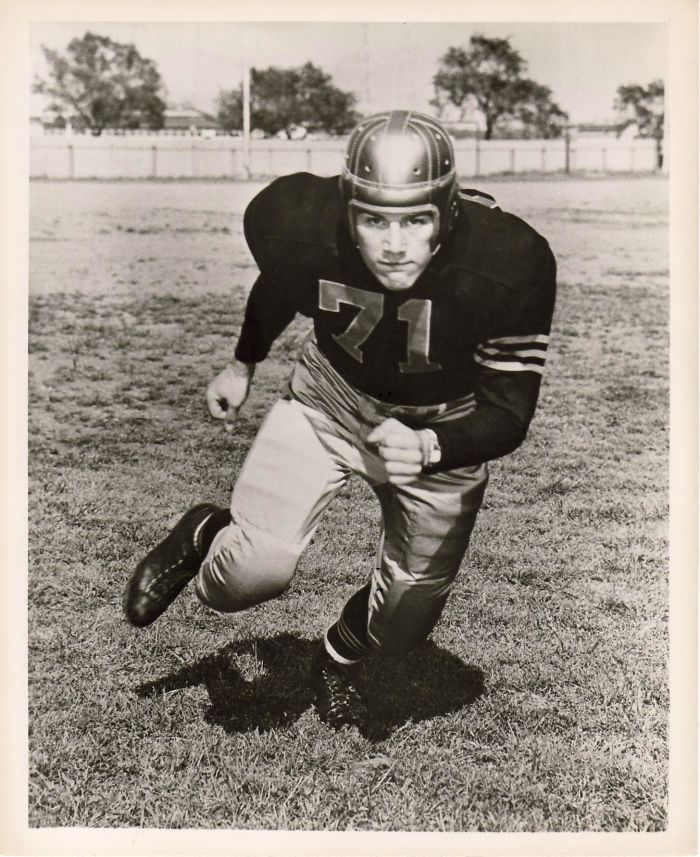 Lost This Guy This Year To Parkinson's. My Dad Looking Fierce In His Publicity Photo For Navy Football, Circa 1952