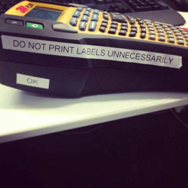 Do Not Print Labels Unnecessarily