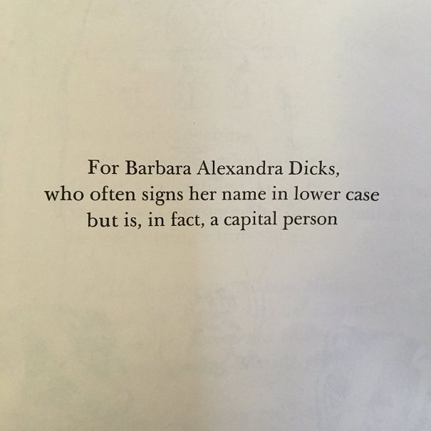Reading One Of The Frances Book To My Son And Found This Dedication So Charming I Laughed Out Loud