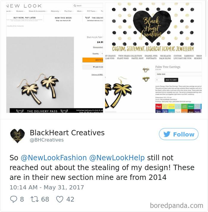 Company Copying Artist's Design