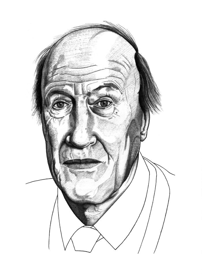 Artist Draws Roald Dahl For #roalddahlday Just Using A Simple Black Biro And The Results Are Astounding