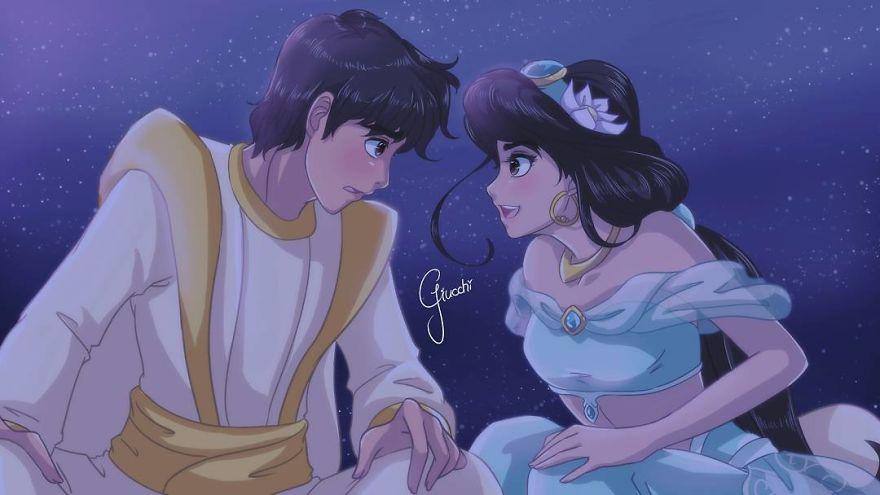 Aladdin And Princess Jasmine