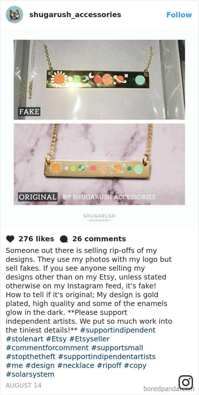 Someone Out There Is Selling Rip-Offs Of My Designs