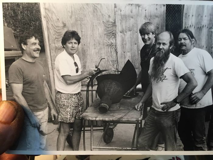 My Dad (With Sunglasses Hanging From Shirt), Welding Stuff And Hanging With The Crew At The Sawdust Festival, Laguna Beach, CA