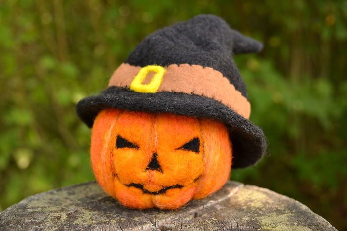 I Create Unique Needle Felted Halloween Decorations From Sheep Wool!