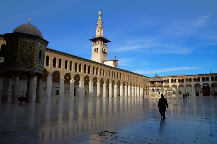 The Umayyad Mosque, Also Known As The Great Mosque Of Damascus Located In The Old City Of Damascus