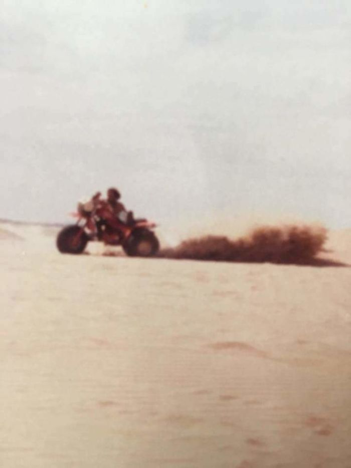 My Dad At The Dunes In 1982