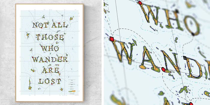 I Turn Famous Travel Quotes Into Maps