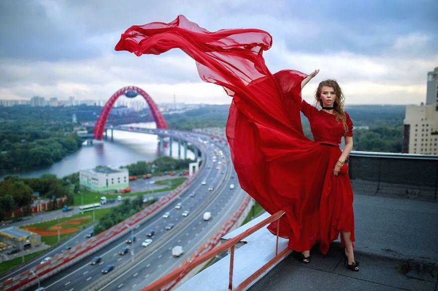 Rooftop View Zhivopisny Bridge (picturesque Bridge) In Moscow