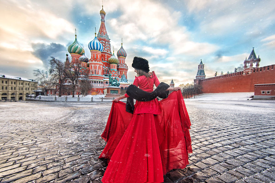 Red Square In Winter, Moscow