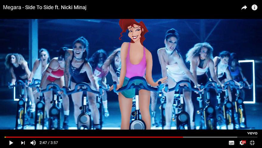 Megara As Ariana Grande - Side To Side