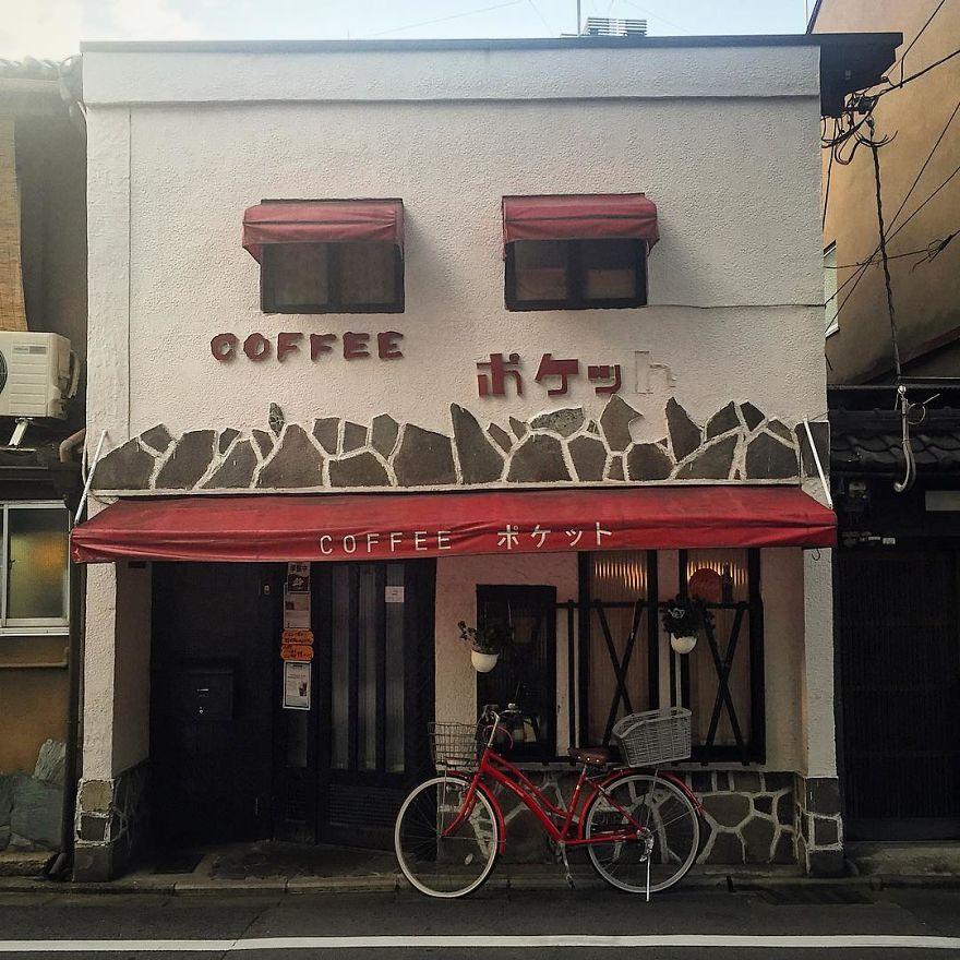 Retro Kissaten Coffee Pocket With Matching Bike