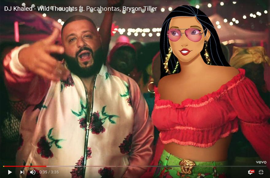Pocahontas As Rihanna - Wild Thoughts