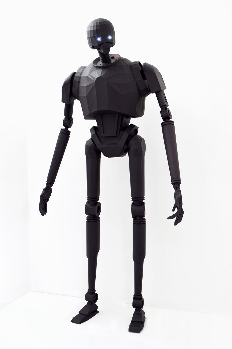 We made a moving life size star wars k 2so robot from - Robot blanc star wars ...