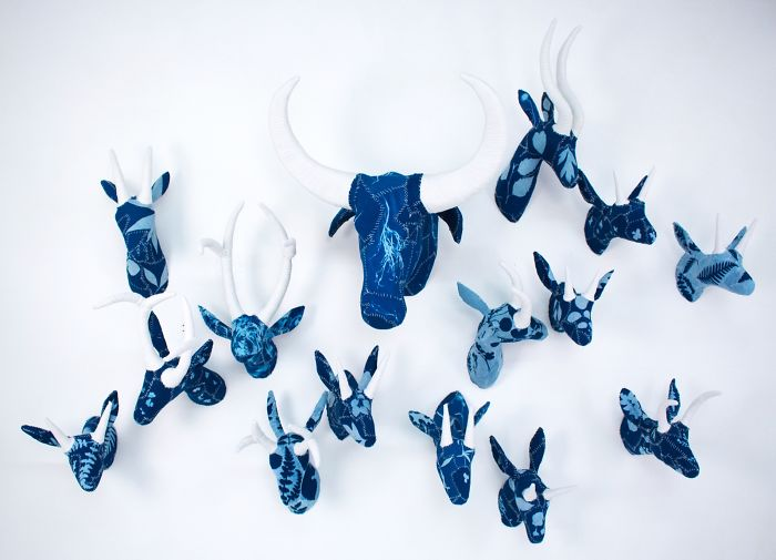 Hand-Sewn Glow-In-The-Dark Creatures