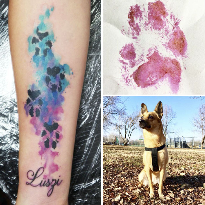 Dog Paws Tattoos