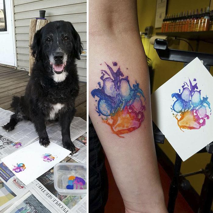 Las Huellas De Perro Quedan Genial Como Tatuajes Aquí Tienes La