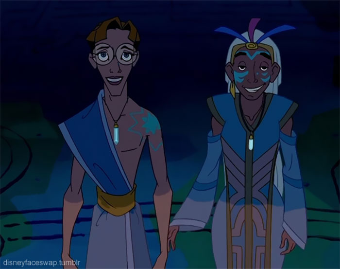 This Is What Would Happen If The Disney Characters Used The Face Swap Application; The Result Is Hilarious