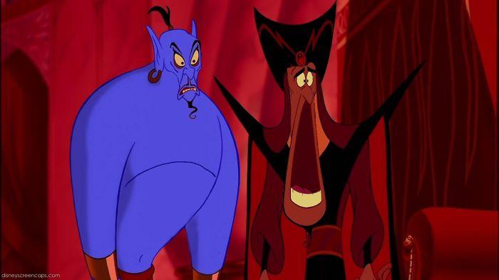 We wensen dat Jafar en de geest weer hun eigen hoofd krijgen
