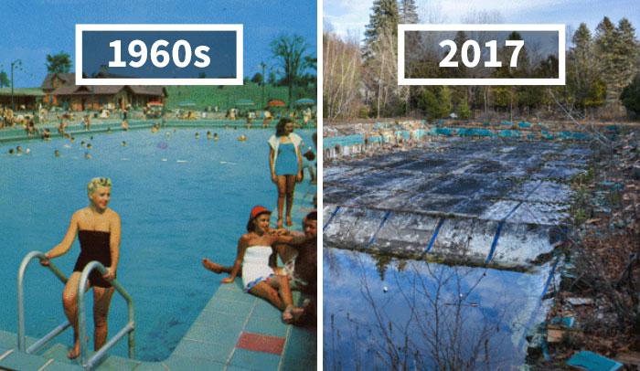 Este fotógrafo encuentra localizaciones de postales de los años 60 para ver el aspecto que tienen hoy, la diferencia es increíble