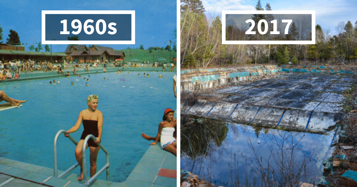 Photographer Finds Locations Of 1960s Postcards To See How They Look Today, And The Difference Is Unbelievable