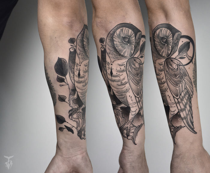 Nature And Art Nouveau Inspired Tattoo Art