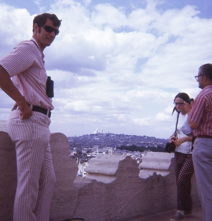Fashion Sense Aside, My 6'6″ Dad Always Knows How To Strike A Boss Pose. European Vacation Circa 1970