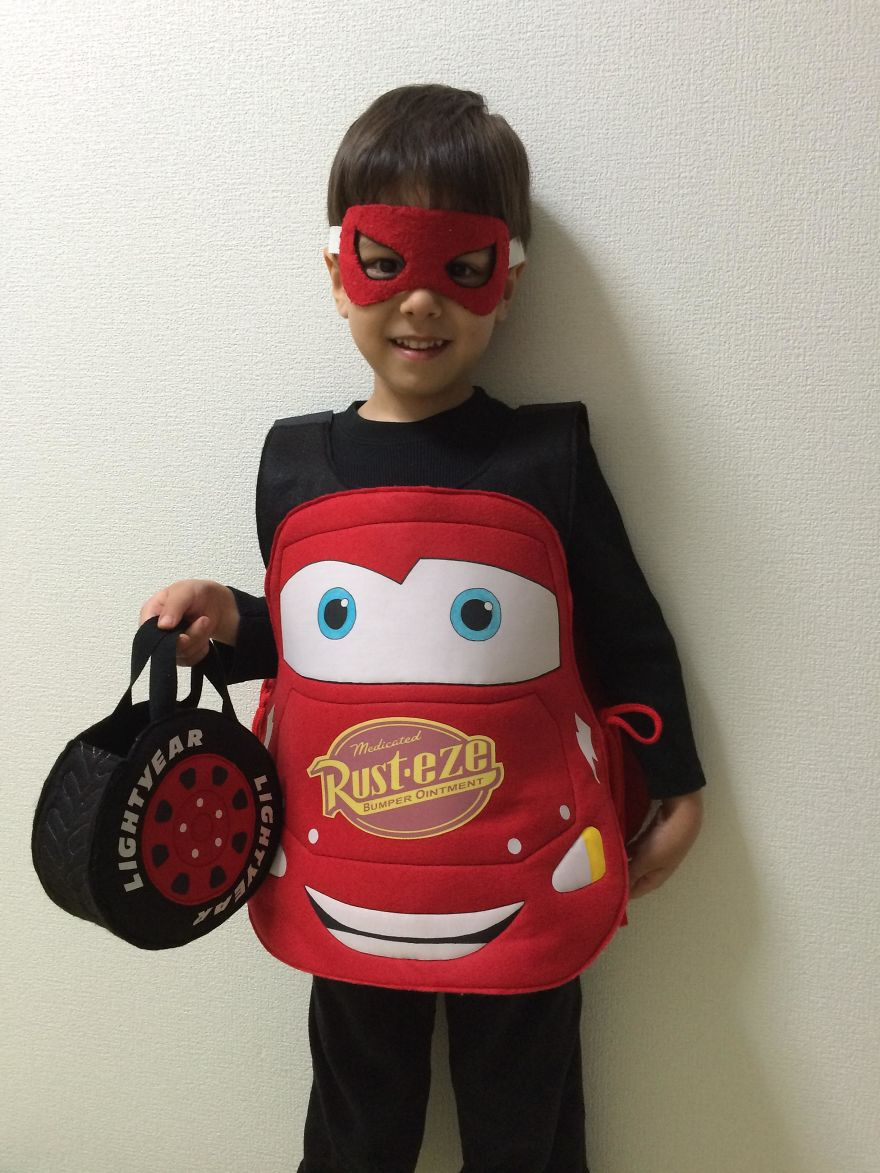 I Made This Pattern For A Lightning Mcqueen Costume