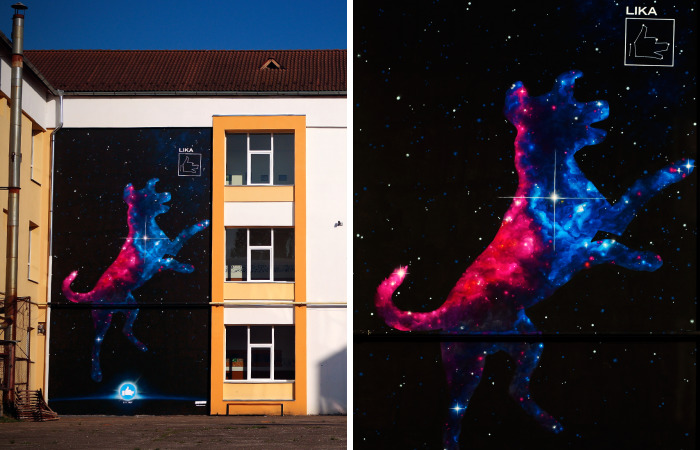 Lika: My 70 Sq Metre Tribute Mural To Humanity's Most Liked Space Dog 60th Anniversary