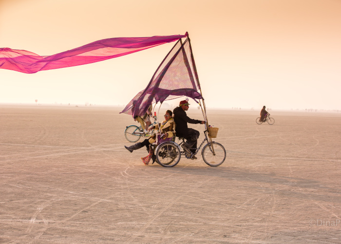 Colorful People Of The Burning Man