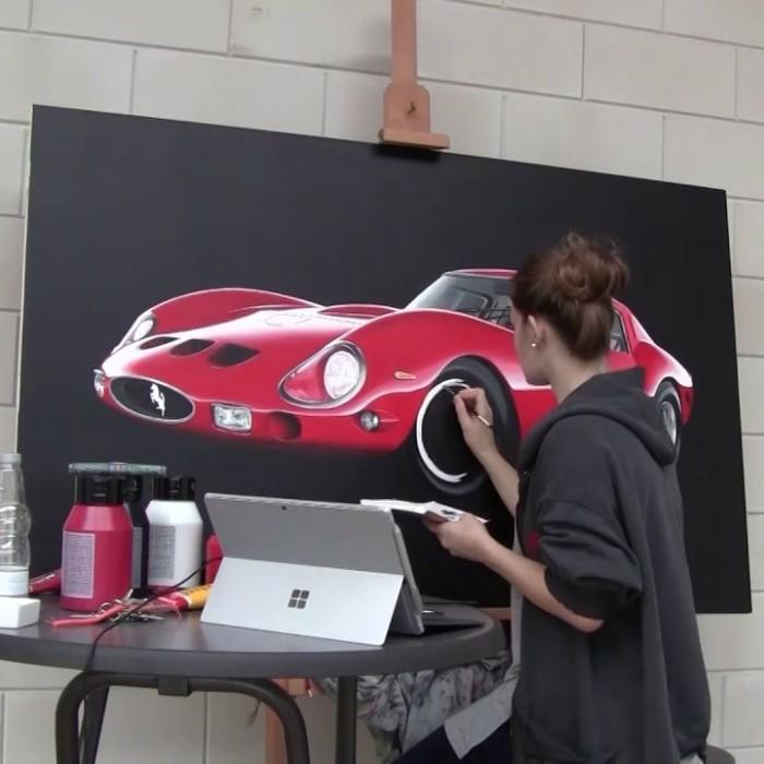 I Paint Realistic Automotive Art