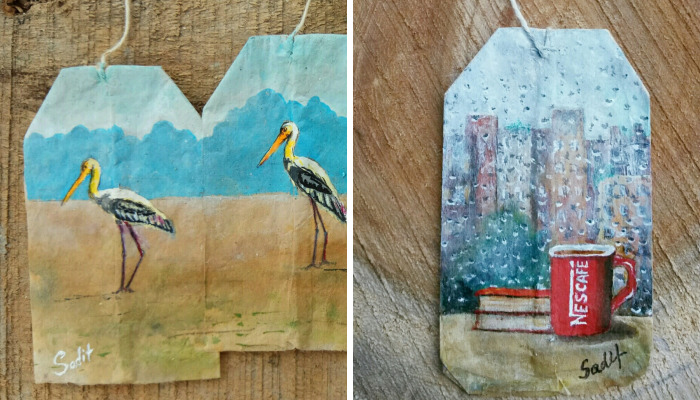 I Paint Intricate Scenes On Teabags