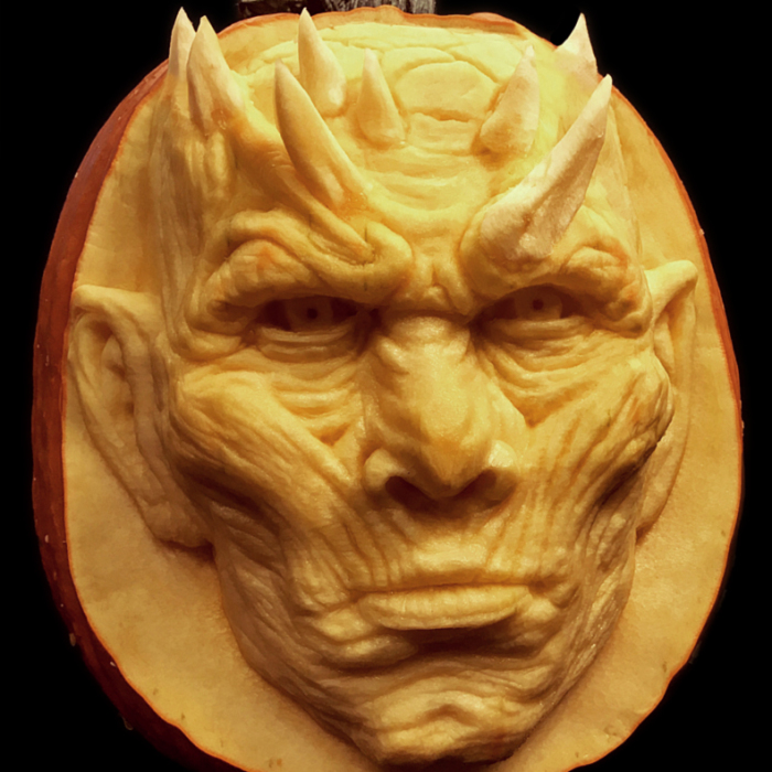 Artist Carves GOT Night King In Pumpkin