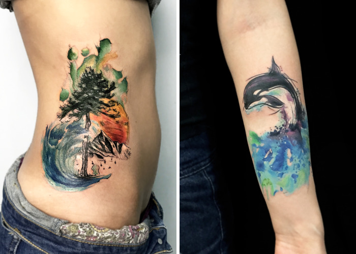 Nature Itself With All Of Its Colors By Turkish Tattoo Artist