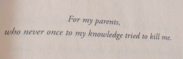 This Is A Book Dedication