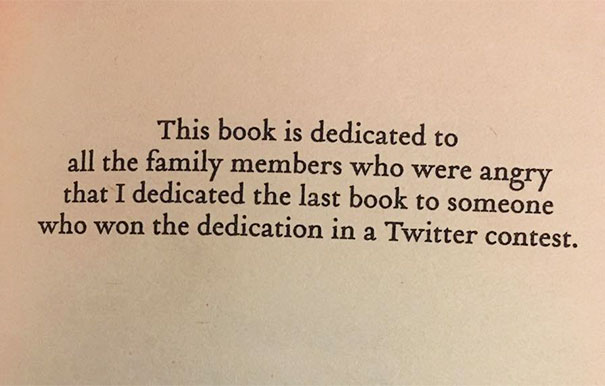 I Love This Book Dedication