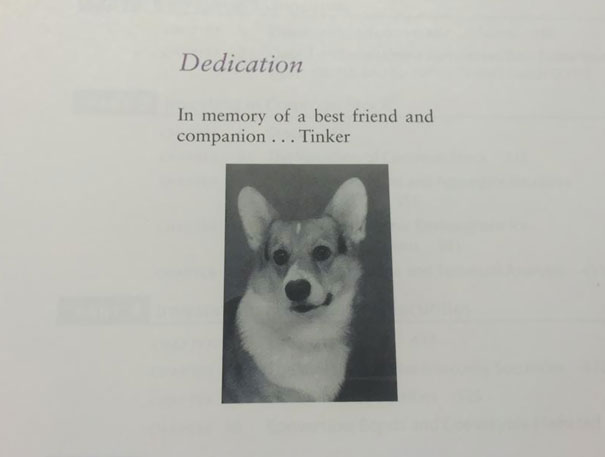 Opened Up My Finance Textbook And Found This Dedication