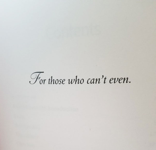 Yes. I Bought This Book Based On The Dedication Page