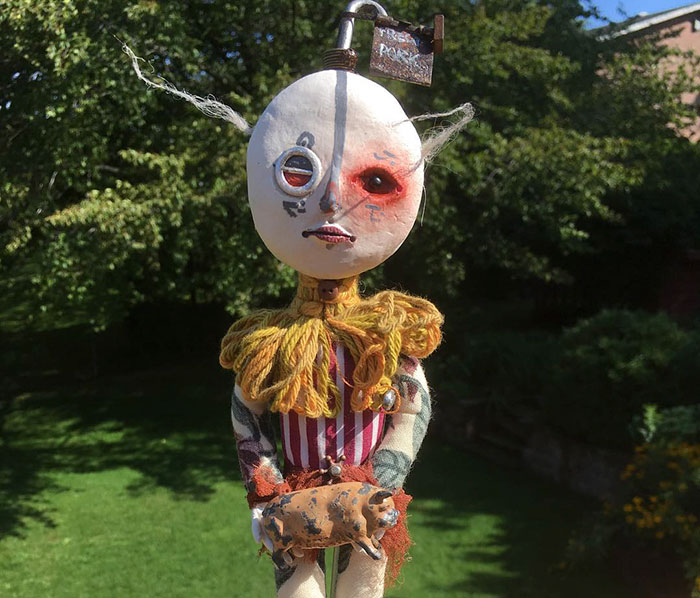 12-Year-Old Boy Creates Creepy Sculptures Using Found Materials, And They're Surprisingly Awesome