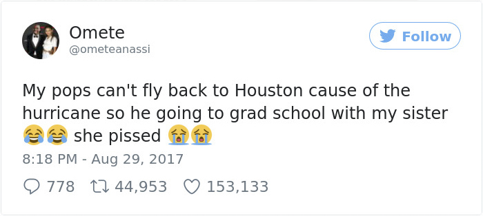 Dad Gets Stranded At Daughter's College Because Of The Flood, Decides To Annoy Her In The Most Hilarious Way