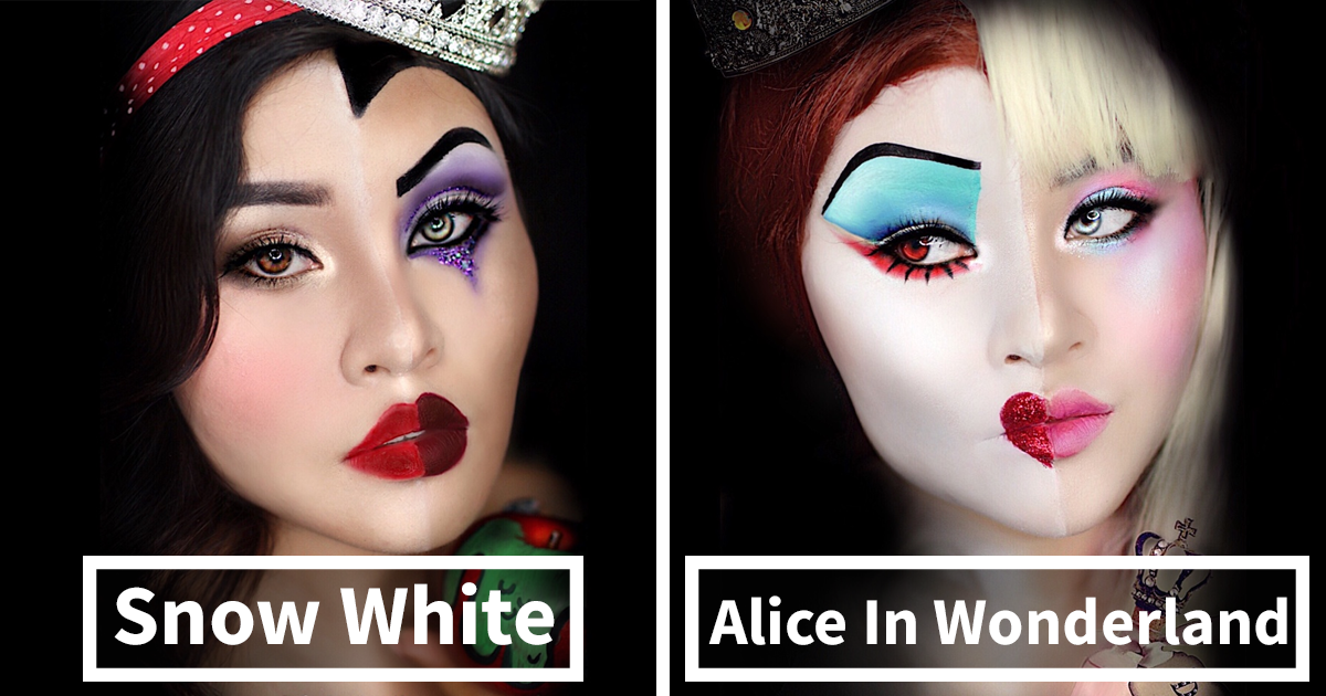 I Merged Disney Princesses And Villains To Create These Makeup Looks